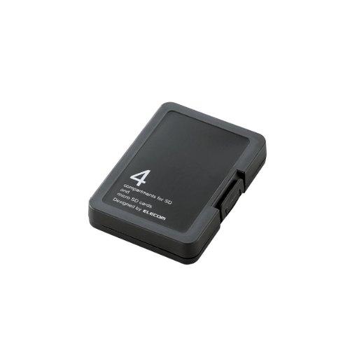 エレコム SD/microSDメモリカードケース プラスチック...