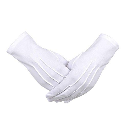 礼装用 フォーマル手袋 ナイロン手袋 紳士 白 手袋 結婚式に グローブ/接客業/サービス業/メンズ