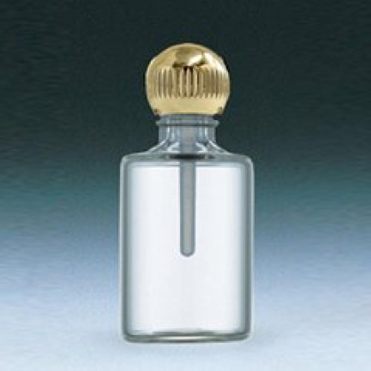 メイド衝突有用【ヤマダアトマイザー】パフュームボトル 小ビン 60620 円筒 クリア ゴールド 約4.5ml