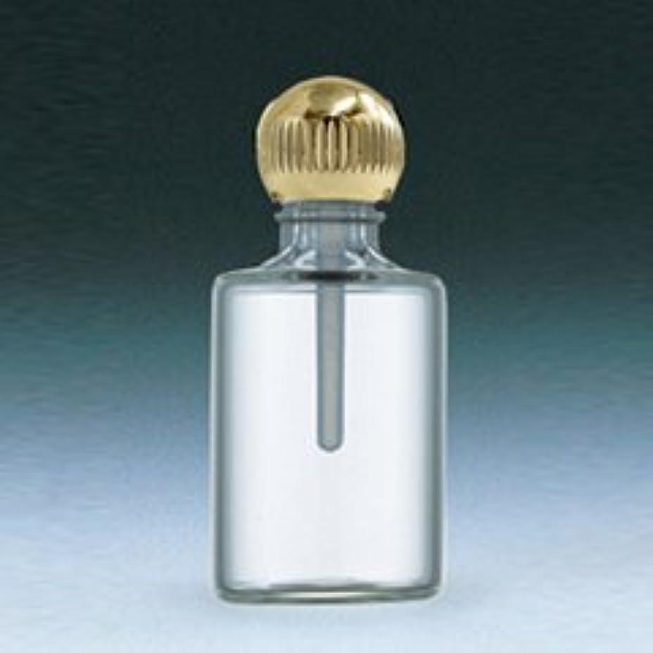 【ヤマダアトマイザー】パフュームボトル 小ビン 60620 円筒 クリア ゴールド 約4.5ml