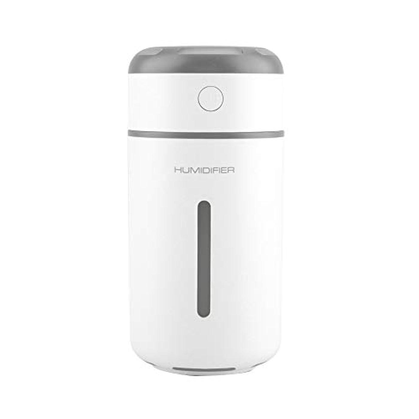 ゴミ箱を空にするリボンアナリスト超音波クールミスト加湿器、ポータブルミニUSB加湿器ディフューザー7色LEDライト付きプレミアム加湿ユニット