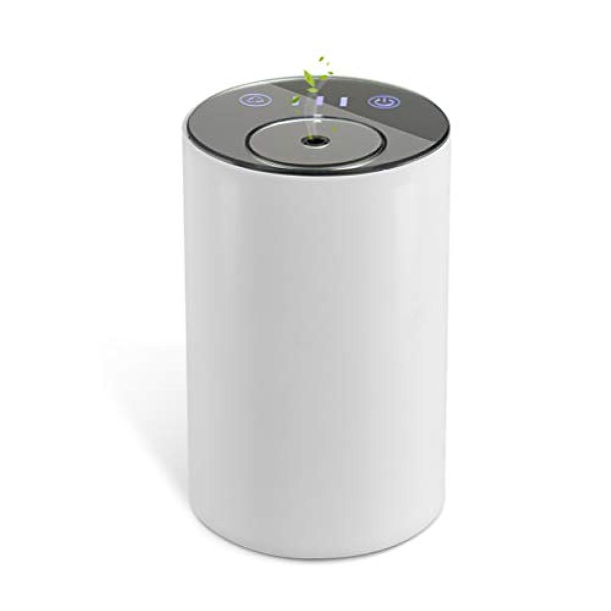 ラケット保安予防接種アロマディフューザー ネブライザー式 水なし 充電式 静音 噴霧 ミスト量調整可 タイマー機能 車用 エッセンシャルオイルの節約