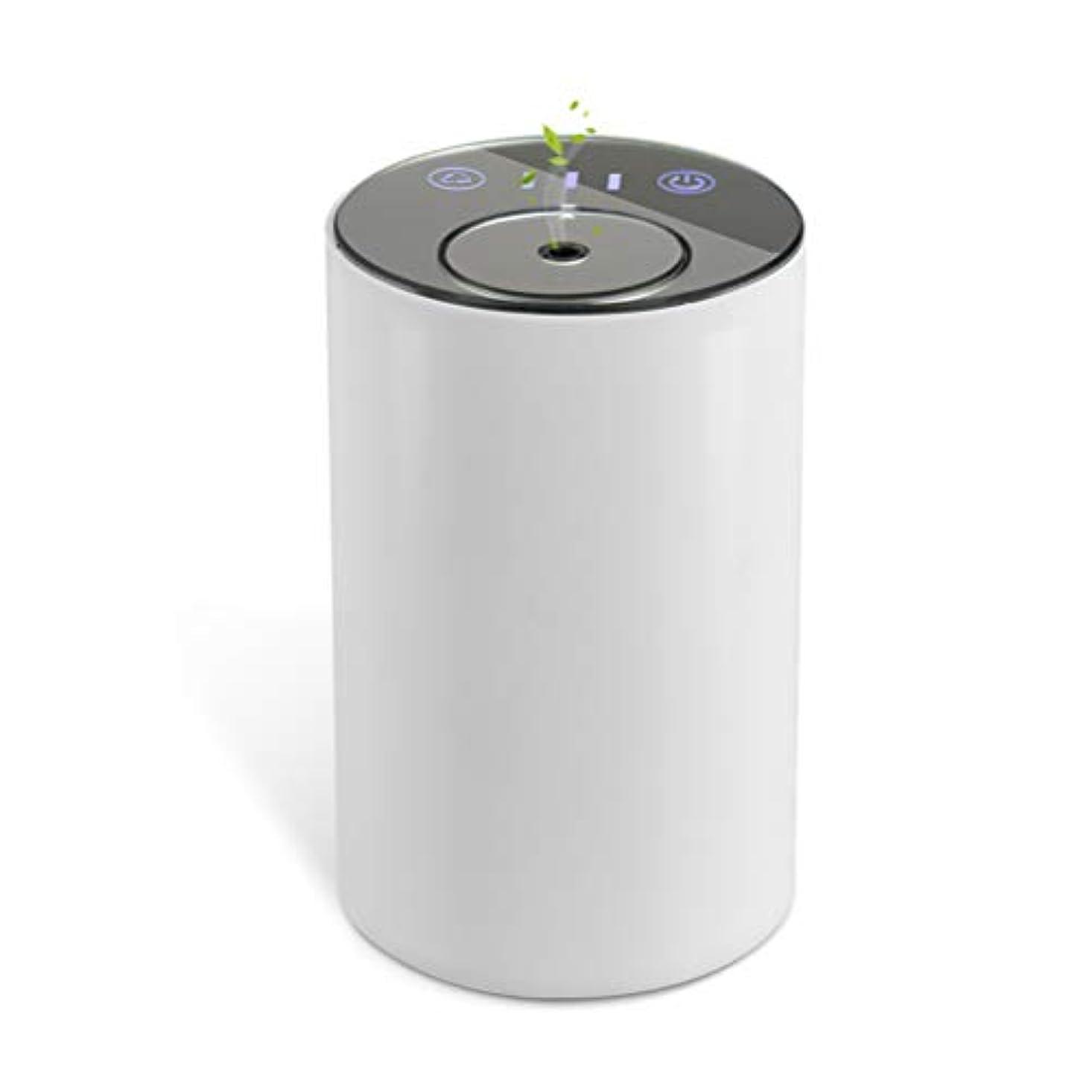 押し下げるラフ睡眠桁アロマディフューザー ネブライザー式 水なし 充電式 静音 噴霧 ミスト量調整可 タイマー機能 車用 エッセンシャルオイルの節約