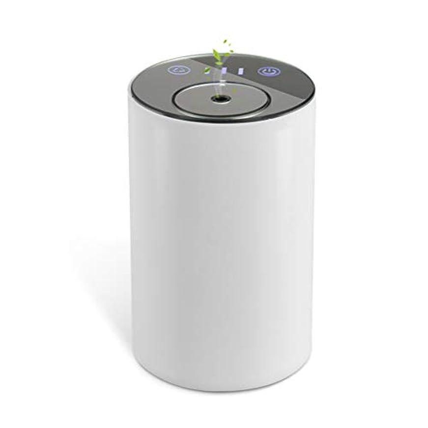 警官蚊示すアロマディフューザー ネブライザー式 水なし 充電式 静音 噴霧 ミスト量調整可 タイマー機能 車用 エッセンシャルオイルの節約