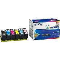 エプソン インクカートリッジ カメ6色パックM(黒のみ増量) KAM-6CL-M 1箱(6個:各色1個) 〈簡易梱包