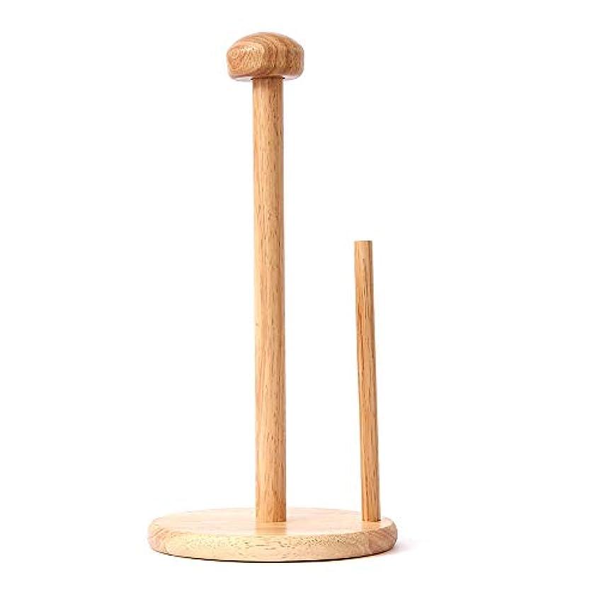 クリケット団結する流用するZZLX 紙タオルホルダー、ヨーロッパのソリッドウッドホームリビングルームキッチンラージロールペーパータオル棚 ロングハンドル風呂ブラシ