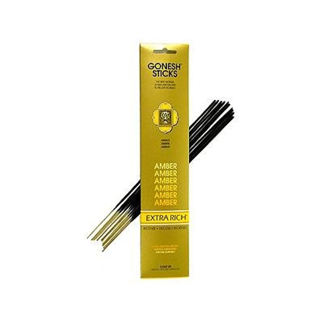マイルドコーチ珍しいGonesh ~ Incense Sticks ~ Pack of 4 ~ Amber [ Misc。]