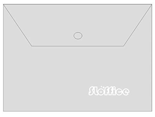 透明フォルダa4サイズのフォルダのスナップボタン、ポリ封筒ドキュメントポケットフォルダ、パック10
