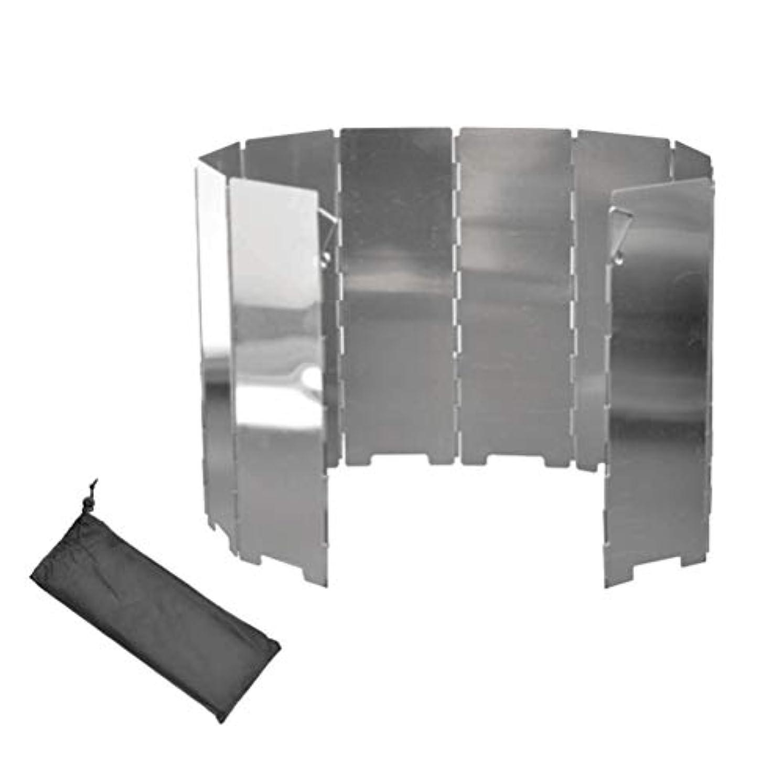 植生励起れるiplusmile 風除板 ウインドスクリーン 折り畳み式 防風板 10ピース/セット 屋外 バーベキュー 風防 ガラスアルミ 折りたたみ ストーブ ウインドスクリーン 風防用 キャンプピクニック