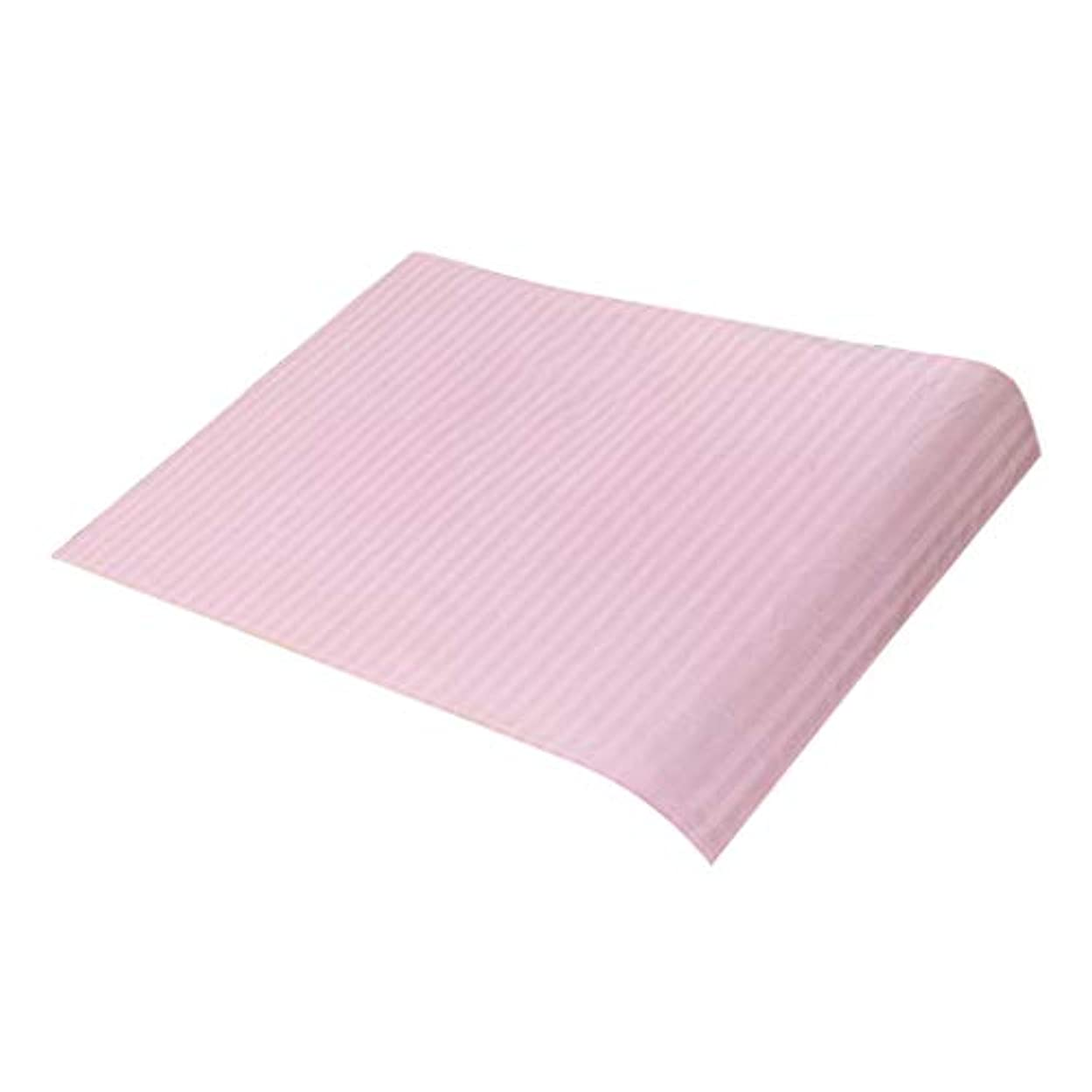 東いいね平日マッサージベッドカバー 美容ベッドカバー スパ マッサージテーブルスカート 綿素材 断面デザイン - ピンク