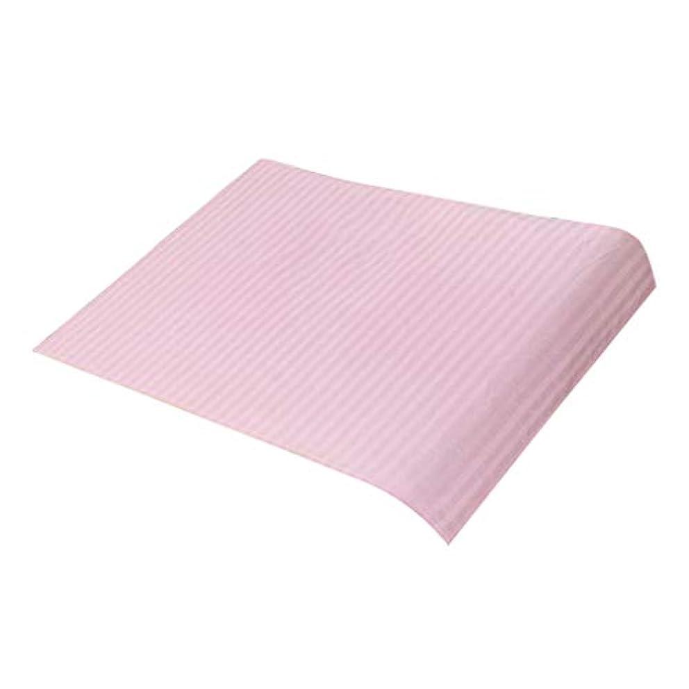 アブセイ無法者編集するマッサージベッドカバー 美容ベッドカバー スパ マッサージテーブルスカート 綿素材 断面デザイン - ピンク