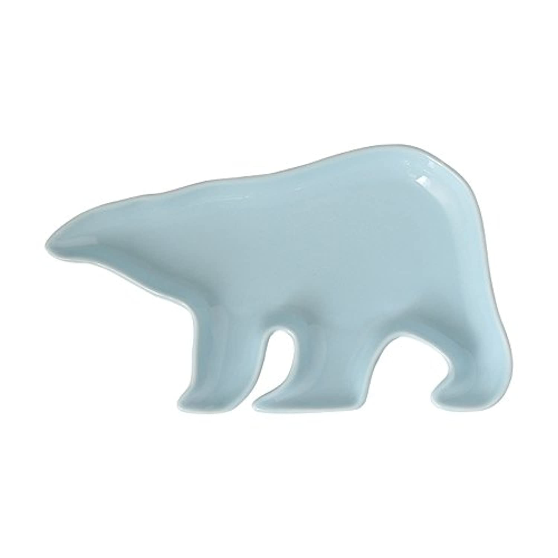 chooldキャンディーカラーPolar Bearセラミックディナープレート/サラダプレート/デザートプレート/ジュエリーディッシュ ブルー