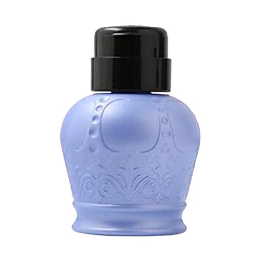 ベアリングサークル日曜日捨てるF Fityle ネイルアートヒント 空ディスペンサー 空のポンプボトル 軽量 耐久性 2色選択 - ブルー