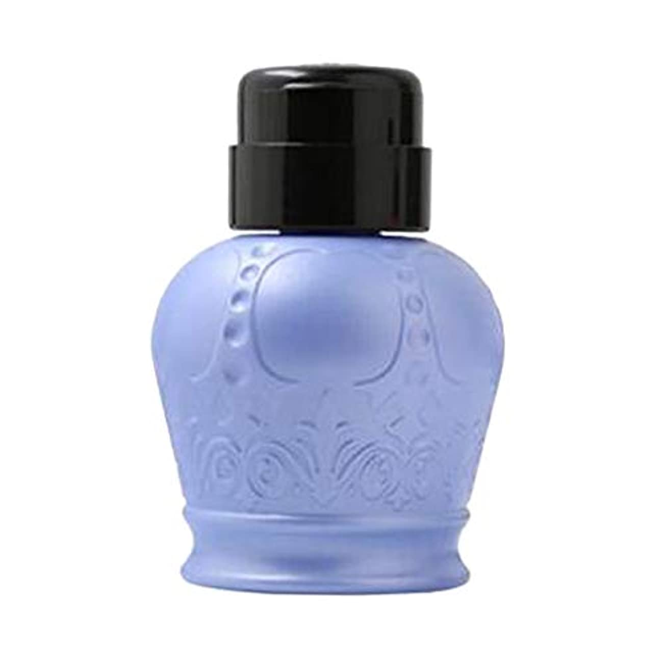 磁気うなる頭蓋骨F Fityle ネイルアートヒント 空ディスペンサー 空のポンプボトル 軽量 耐久性 2色選択 - ブルー