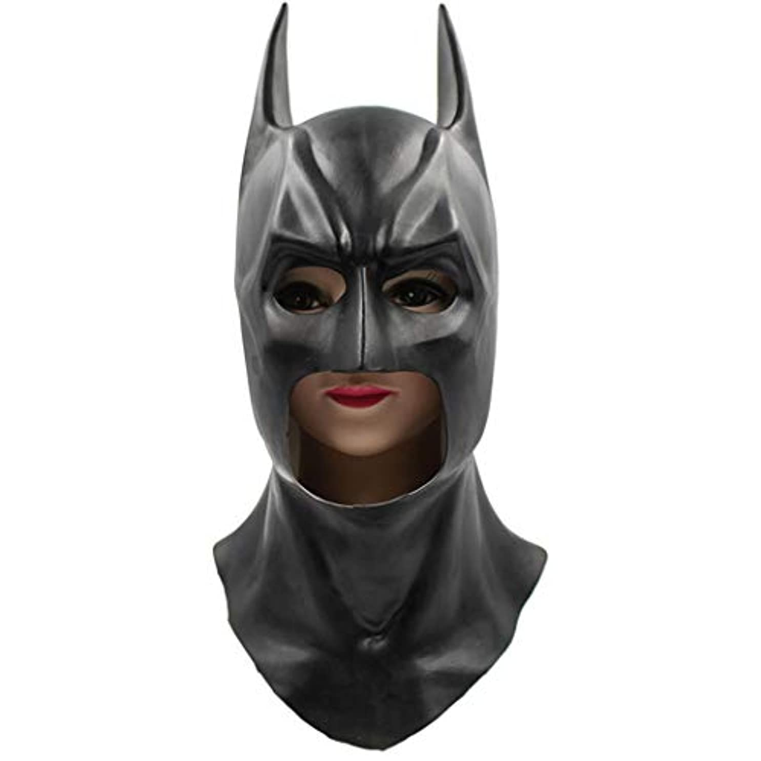 歌う動作署名バットマンマスクパーティーダンス小道具卸売ハロウィンラテックス玩具