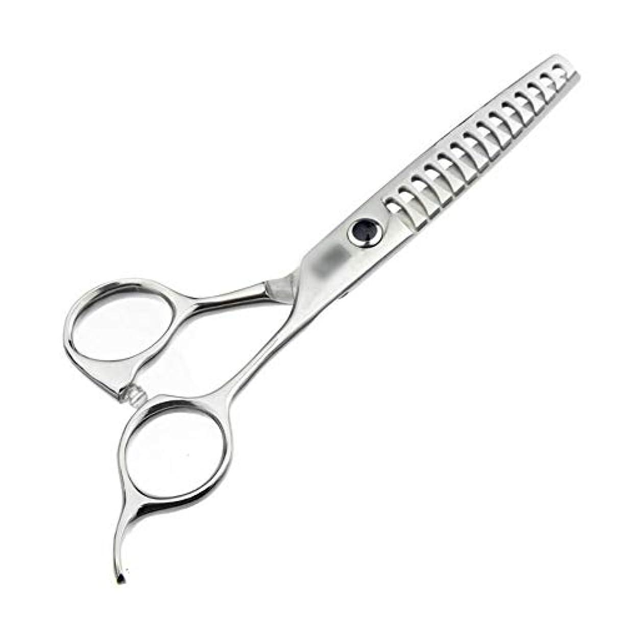 であることマディソンカエル理髪用はさみ 6インチハイエンド理髪はさみ、魚の骨はさみ、歯なしはさみヘアカットはさみステンレス理髪はさみ (色 : Silver)