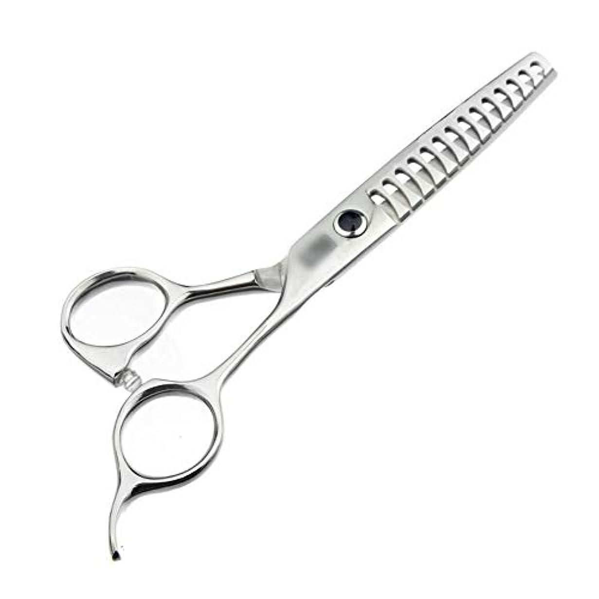 表面的な入場湿気の多いGoodsok-jp 6インチのハイエンドの理髪はさみの魚の骨のはさみ、歯のはさみ無し (色 : Silver)