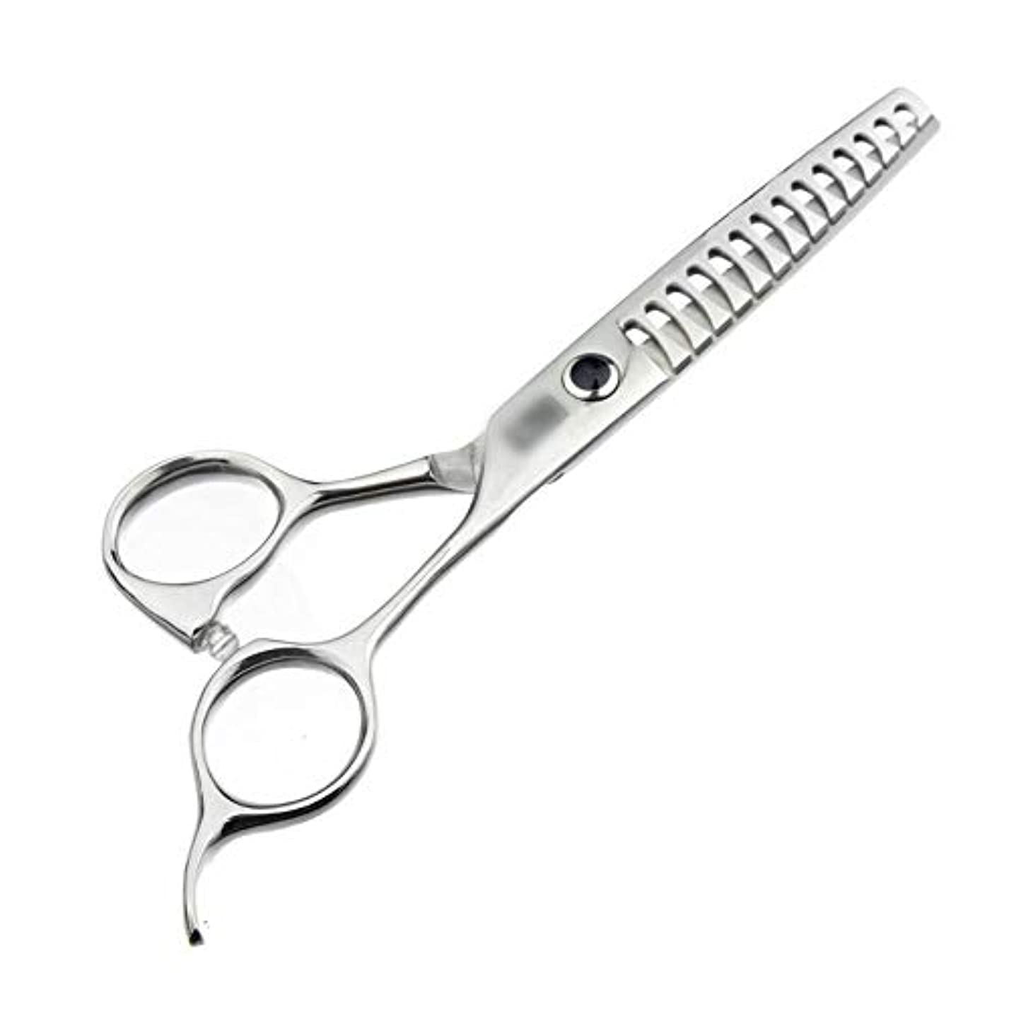 囲む補助金エミュレーション6インチハイエンド理髪はさみ、歯なしはさみ、魚骨はさみ モデリングツール (色 : Silver)