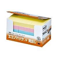 (まとめ) 3M ポストイット エコノパック 見出し 再生紙 50×15mm 混色 7001-K20 1パック(30冊) 【×4セット】 [簡易パッケージ品]