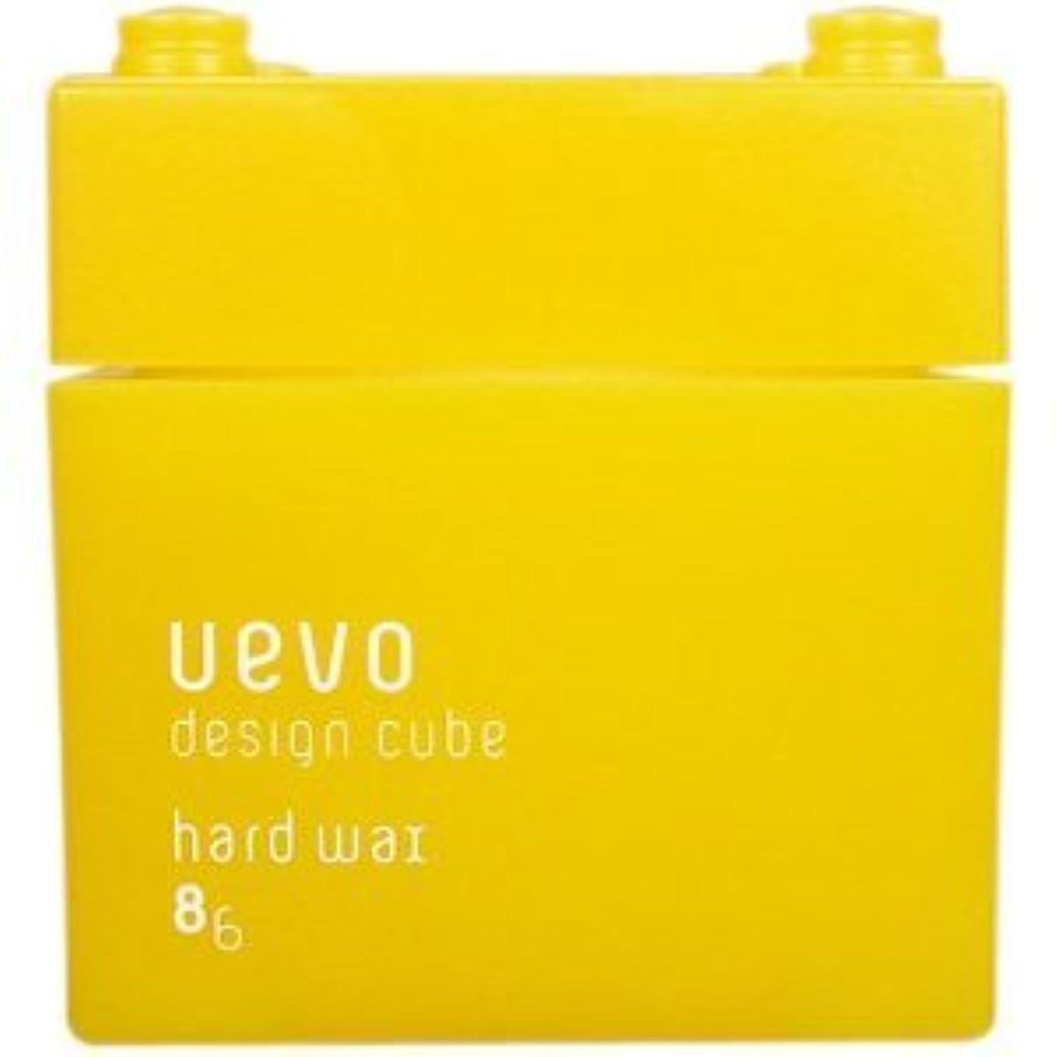 音楽を聴く褒賞言語学【X3個セット】 デミ ウェーボ デザインキューブ ハードワックス 80g hard wax DEMI uevo design cube
