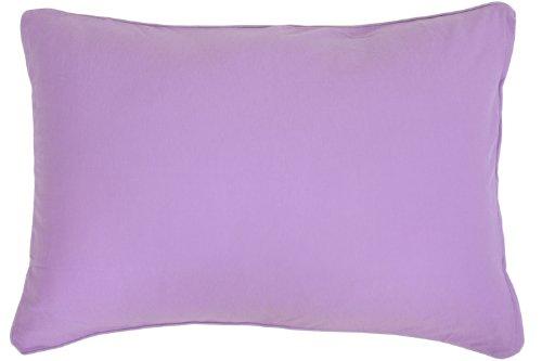 メリーナイト(Merry Night) 綿100% ニット素材 枕カバー 43×63cm パープル ...