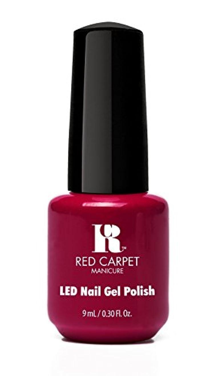 債務者シダセージRed Carpet Manicure - LED Nail Gel Polish - Mulled Wine - 0.3oz/9ml