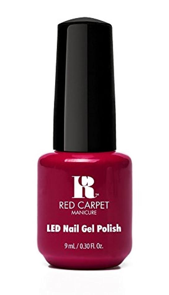 対抗着替える珍味Red Carpet Manicure - LED Nail Gel Polish - Mulled Wine - 0.3oz/9ml