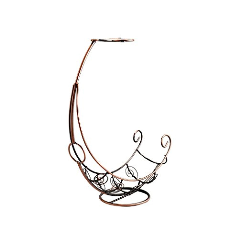 クリエイティブ1ボトルワインラック2ワイングラスホルダーヨーロッパワインシェルフ反転ガラスハンガーハンギングメタルワインスタンド