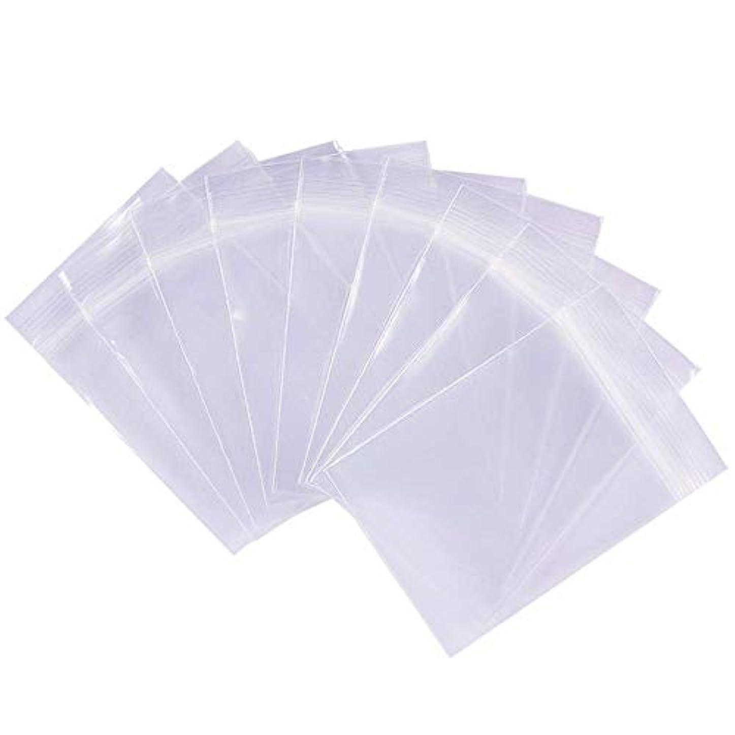 統計的広告するオペラ200枚チャック袋 透明チャック付ポリ袋 リサイクル可能プラスチック袋密封保存袋