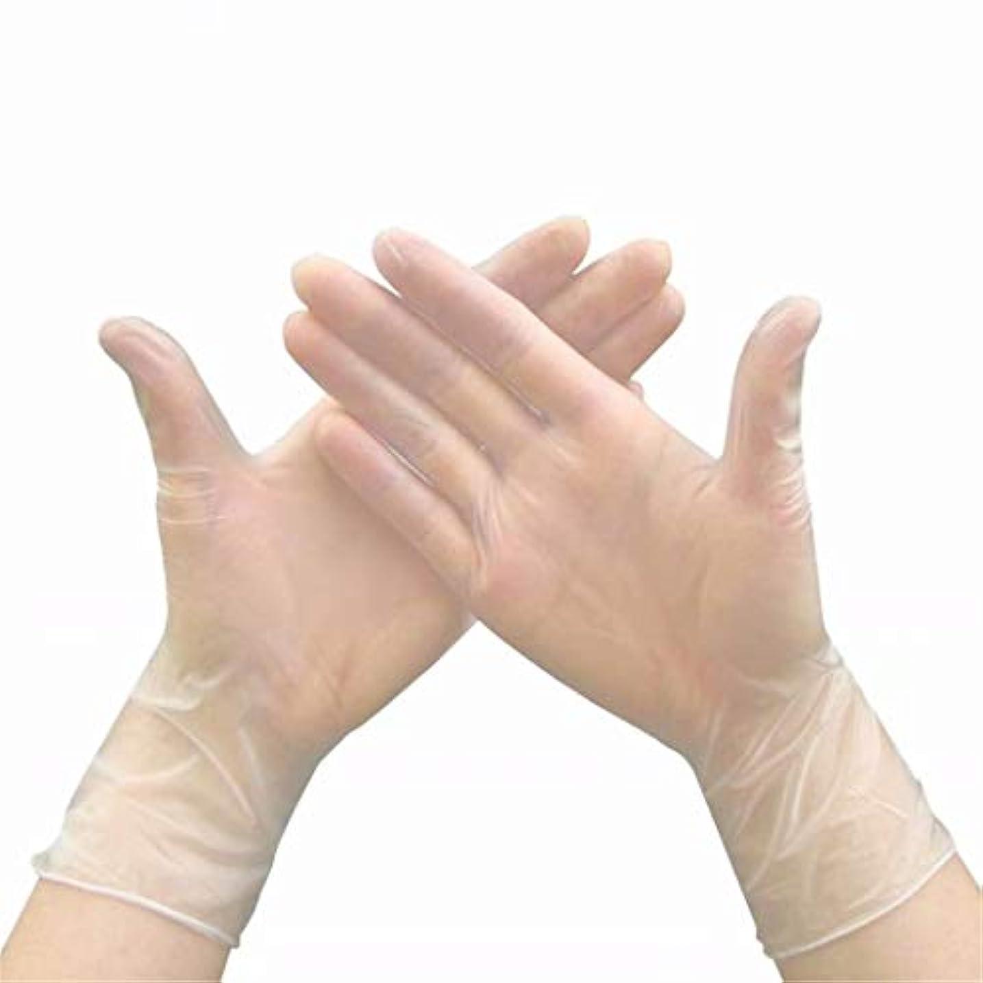 デッド簿記係悪化する七里の香 使い捨てビニール手袋、医療試験、パウダーフリーラテックスフリー、アレルギーフリー 20pcs/Box