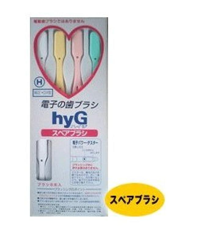 ちらつき失礼な染料電子の歯ブラシ ハイジ(hyG) スペアブラシ H(ハード) 【純正?DX型】