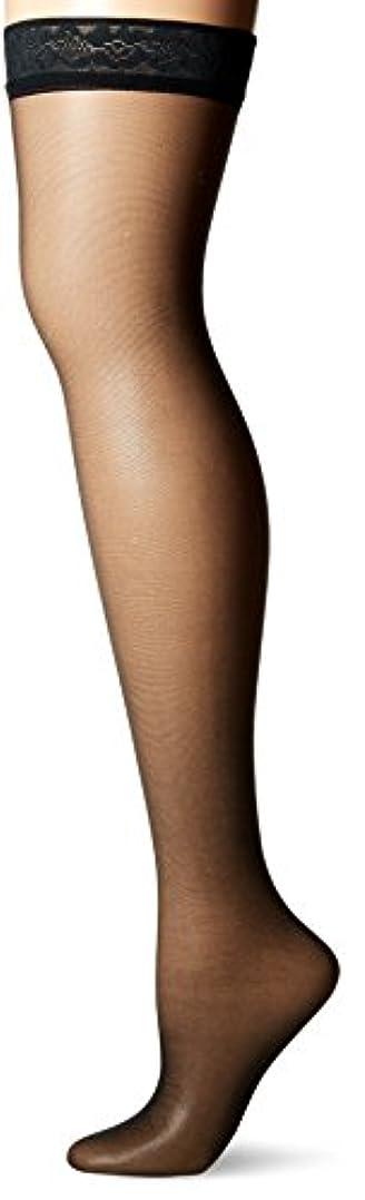 尽きるポジティブセールスマンHanes 720 Womens Silk Reflections Silky Sheer Thigh High Size - EF, Jet Black