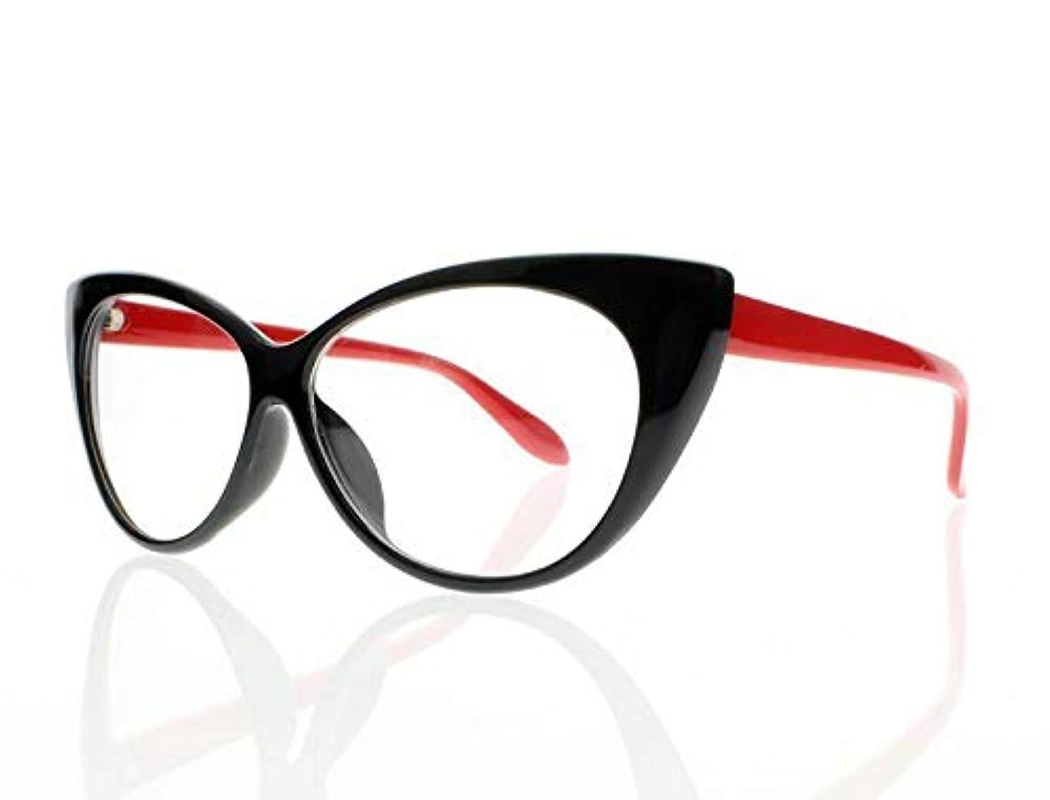 FidgetGear 新しい近視レトロビンテージ猫目亀9色光学眼鏡アイウェア 赤