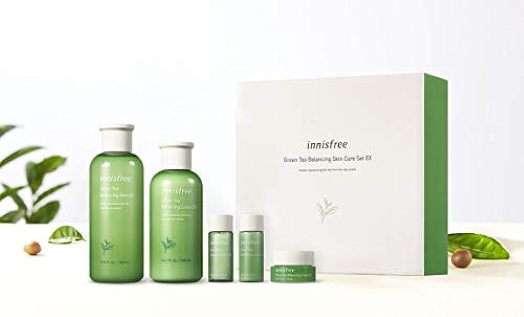 ひいきにする略語取り組むイニスフリーグリーンティーバランシングスキンケアセットの水分ケア韓国コスメ、innisfree Green Tea Balancing Skin Care Set Korean Cosmetics [並行輸入品]