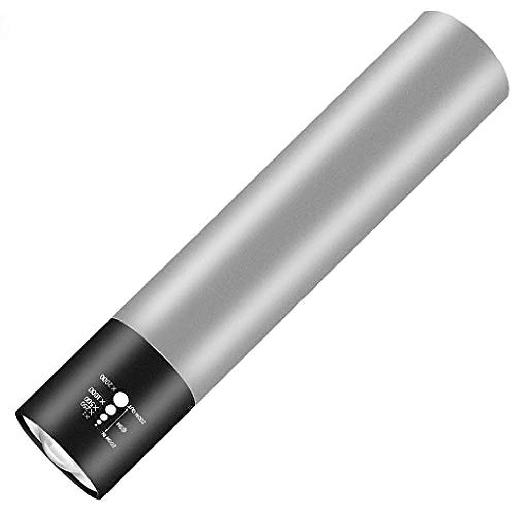 ダッシュコンテンツ魅力的アルミアウトドアライディングLEDキャンプライトUSB内蔵バッテリーミニライト懐中電灯