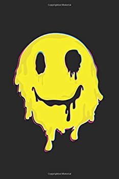 Happy Melted Smiley Face  | Psychedelic: 120 Pages 6 'x 9' |Dot Graph Paper Journal Manuscript • Planner • Scratchbook • Diary