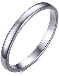 Rockyu ジュエリー 人気 ブランド タングステン リング メンズ 指輪 シンプル シルバー スウィート 指輪 23号