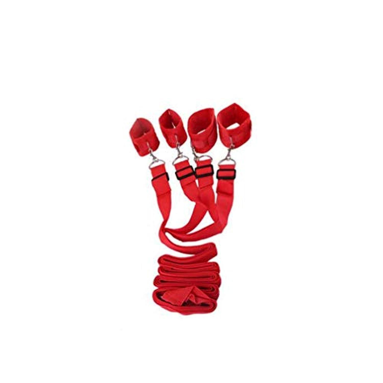 LRWTY 夫と妻セックスアシスタントネクタイセックスネクタイレザー女性のセックスネクタイベッドネクタイ大人のおもちゃ ( Color : Red )