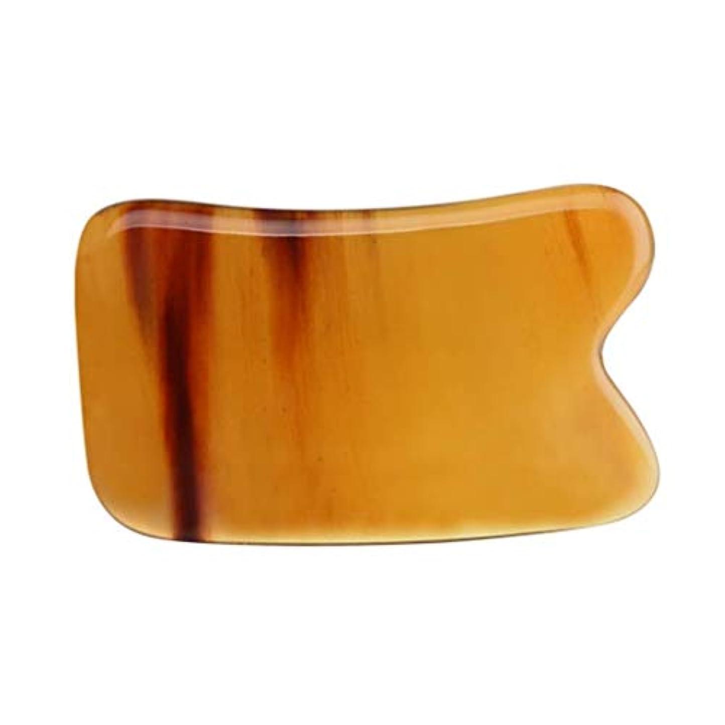 四分円自慢ロッジGua Shaスクレイピングマッサージツール-最高品質の手作りバッファローホーンGuashaボード-首と筋肉の痛みを軽減し、機動性を向上 (Size : 4mm)