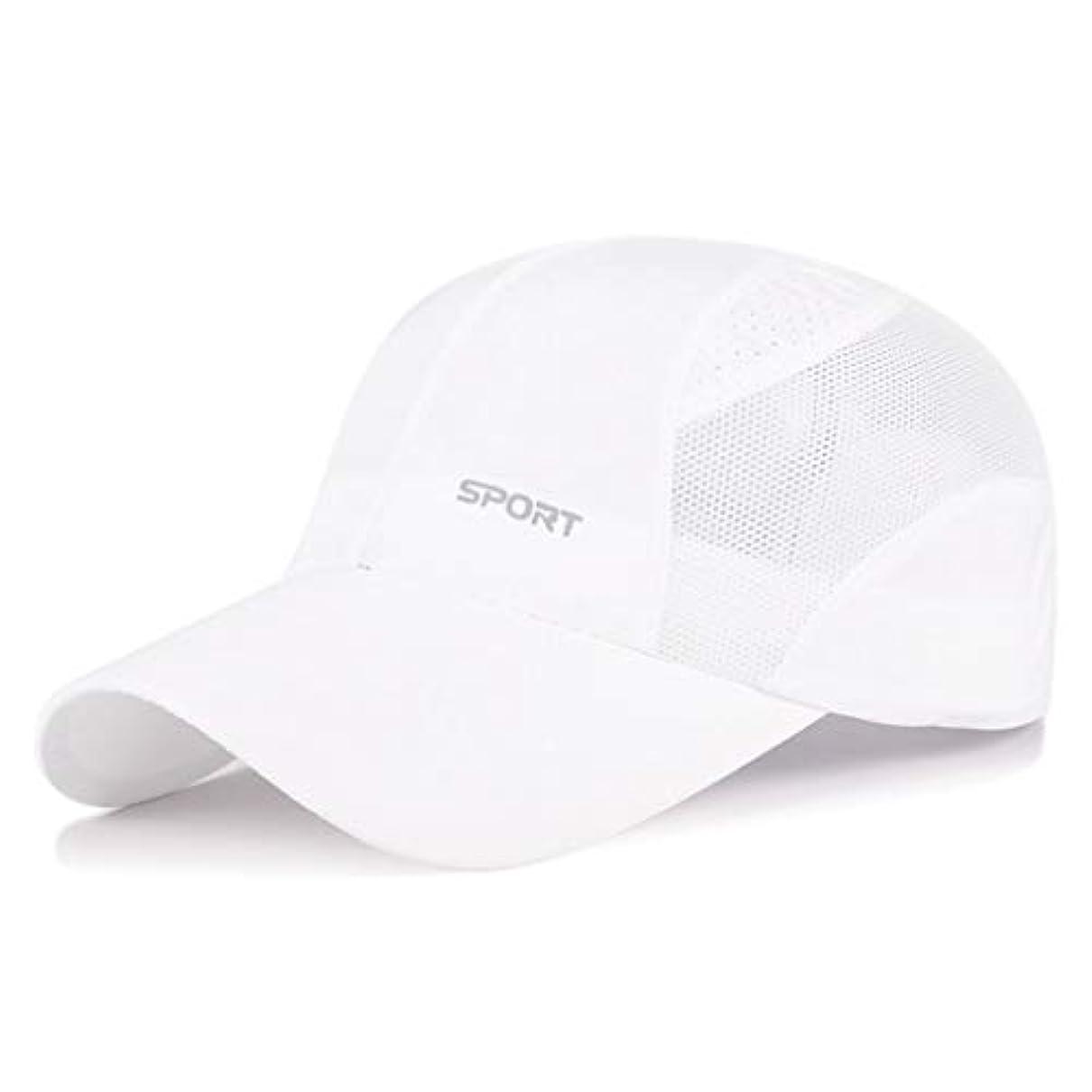 富ドキドキユーモア日よけ帽 日曜日帽子夏の男性と女性のアウトドアレジャースポーツ野球帽速乾性通気性メッシュキャップ日焼け止めバイザーキャップ54-59cm UPF 40+ ZHAOSHUNLI (Color : White)