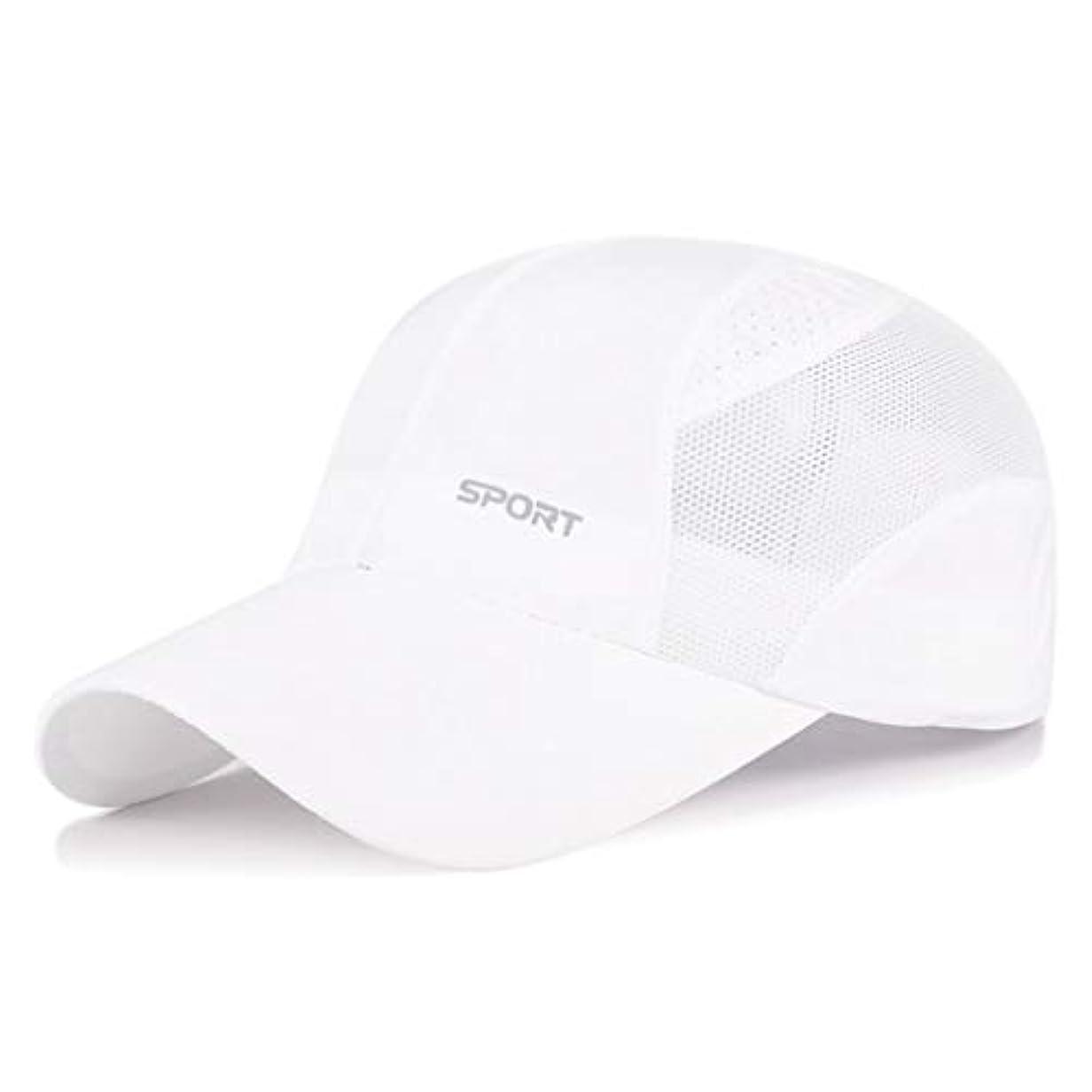 温度ビジョン航空便日よけ帽 日曜日帽子夏の男性と女性のアウトドアレジャースポーツ野球帽速乾性通気性メッシュキャップ日焼け止めバイザーキャップ54-59cm UPF 40+ ZHAOSHUNLI (Color : White)
