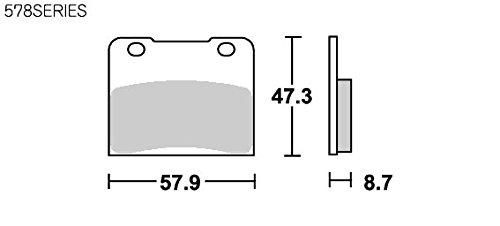 SBS ブレーキパッド 578HF セラミック RG250ガンマ GSX-R250/400/750/1100 イントルーダー 等 777-0578000