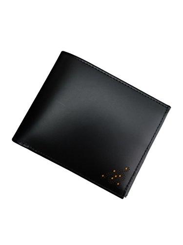 (エッティンガー) ETTINGER ブライドルレザー二つ折り財布 ブラック&イエロー 【並行輸入品】