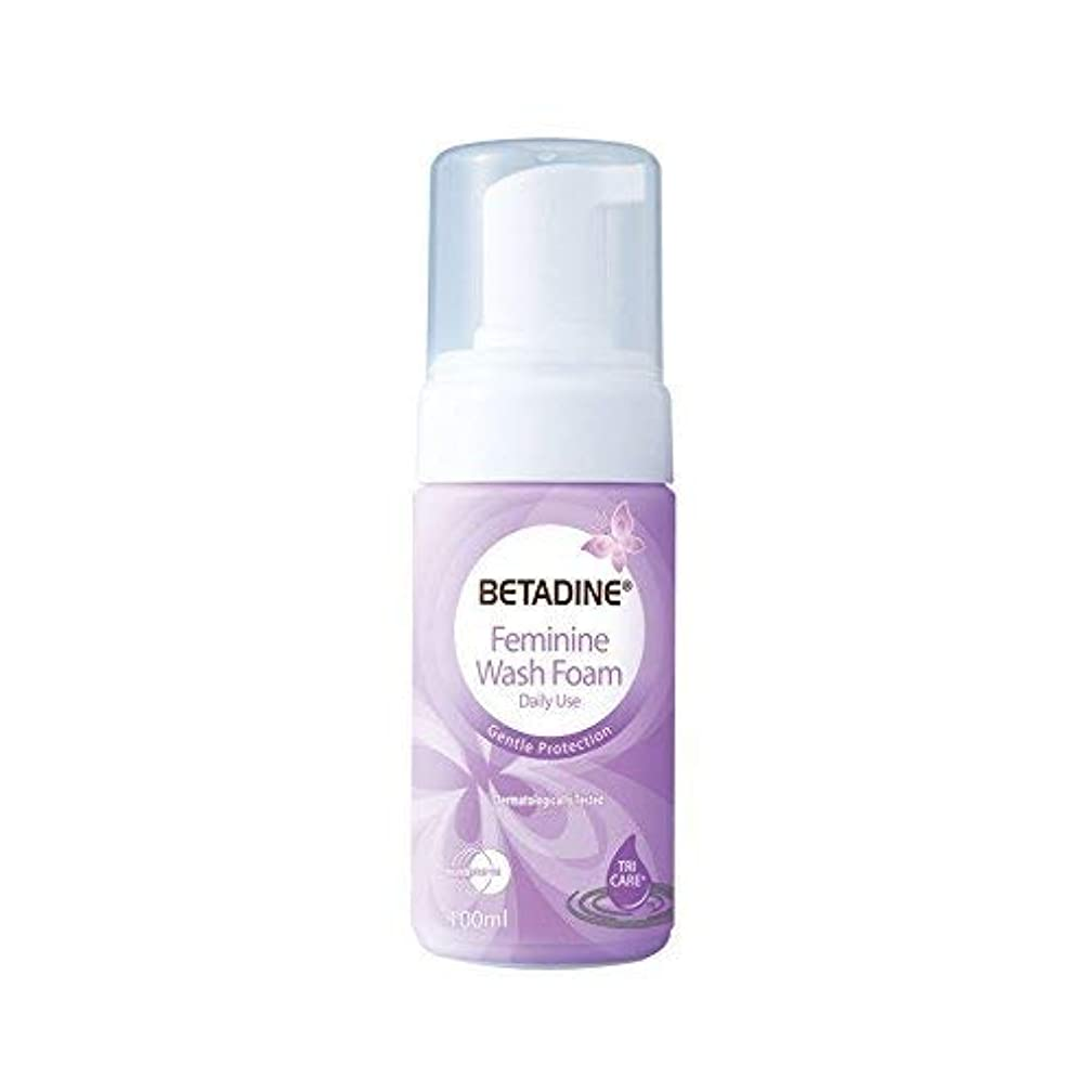クアッガ履歴書薬Betadine Mの女性は、細菌の泡ポンプ100ml無愛想百ミリリットル、カビを除去するために洗浄しました