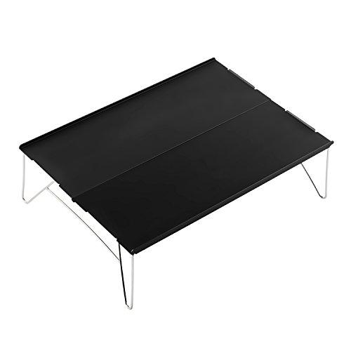 FLYFLYGO テーブル アルミ製 組み立て式 超軽量テーブル ミニテーブル 収納袋付き アウトドアも室内も使用 ...