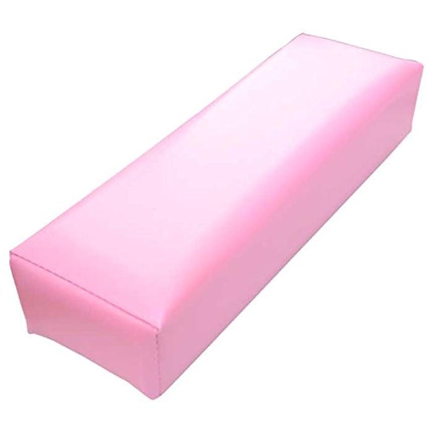 過度に姉妹酸低反発 クッション 素材 ネイル用 アームレスト D9cm×W30cm×6cm ソフト ピンク 腕枕 手枕