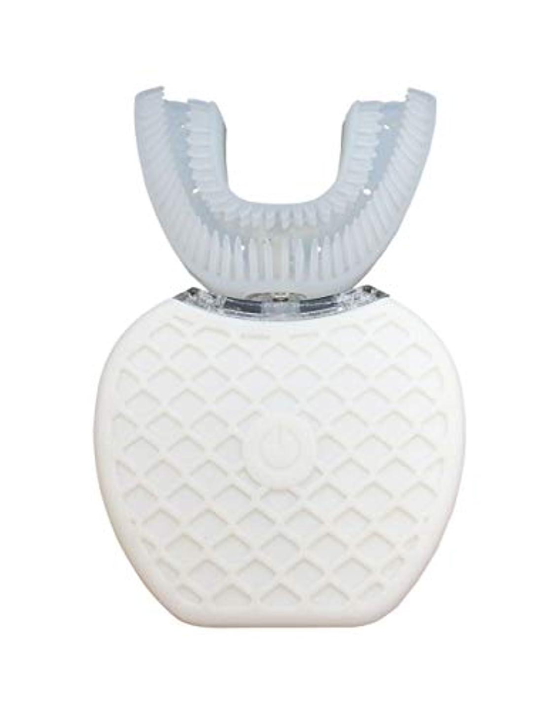 カードおばあさん子音Broadwatch 電動歯ブラシ U型 360° 全方位 360度 4段調節 IPX7レベル防水 自動 歯ブラシ ホワイトニング