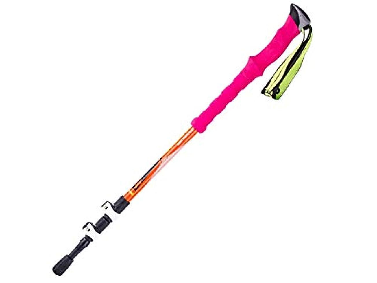 化合物着替える伝統的Pullic 快適 外部ロック スキー ケーン トレッキングポール 軽量 ストレートハンドル ハイキングスティック ハイキング(ブルー)