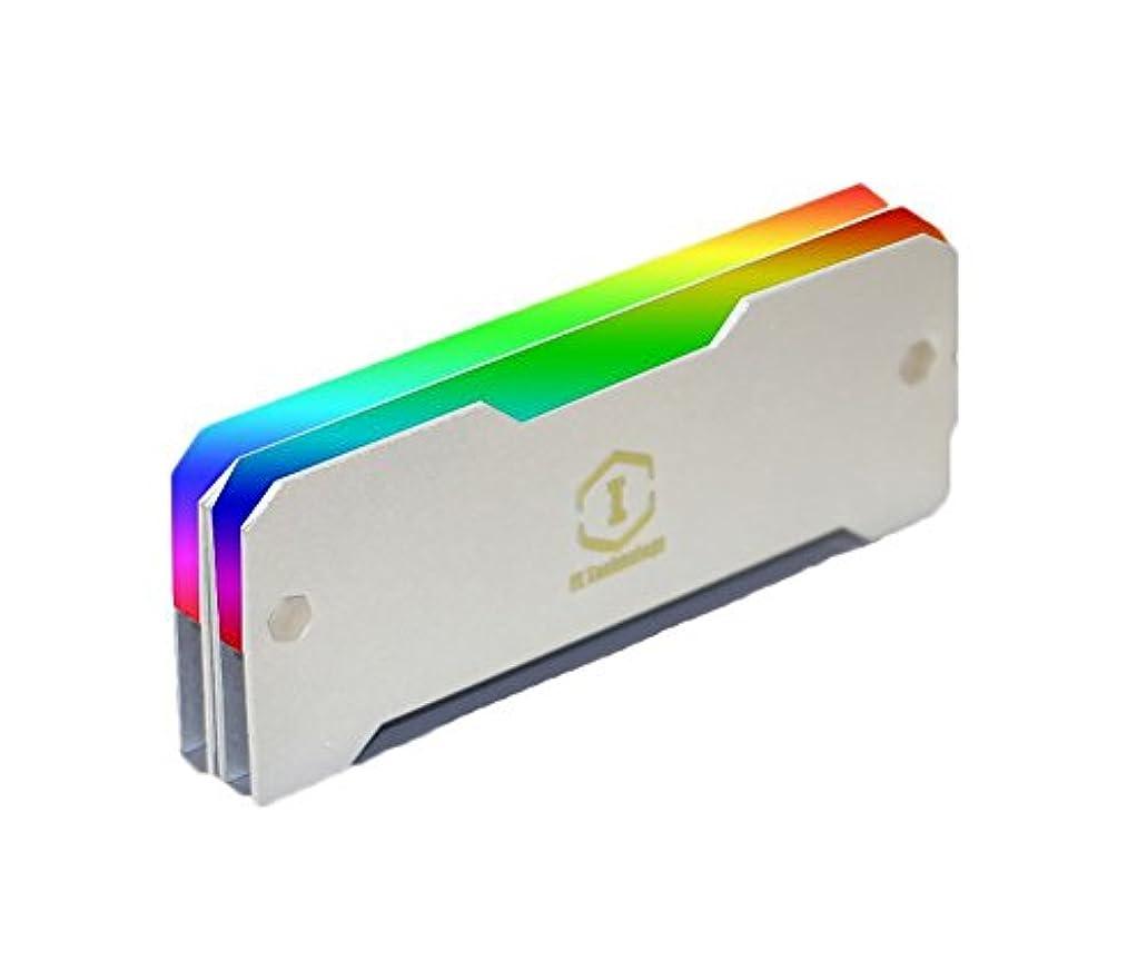 下検査官先DIYカラフルなRGB補助ThermolysisヒートシンクラップトップPCメモリ冷却装飾Controler マルチカラー 002711-1yin