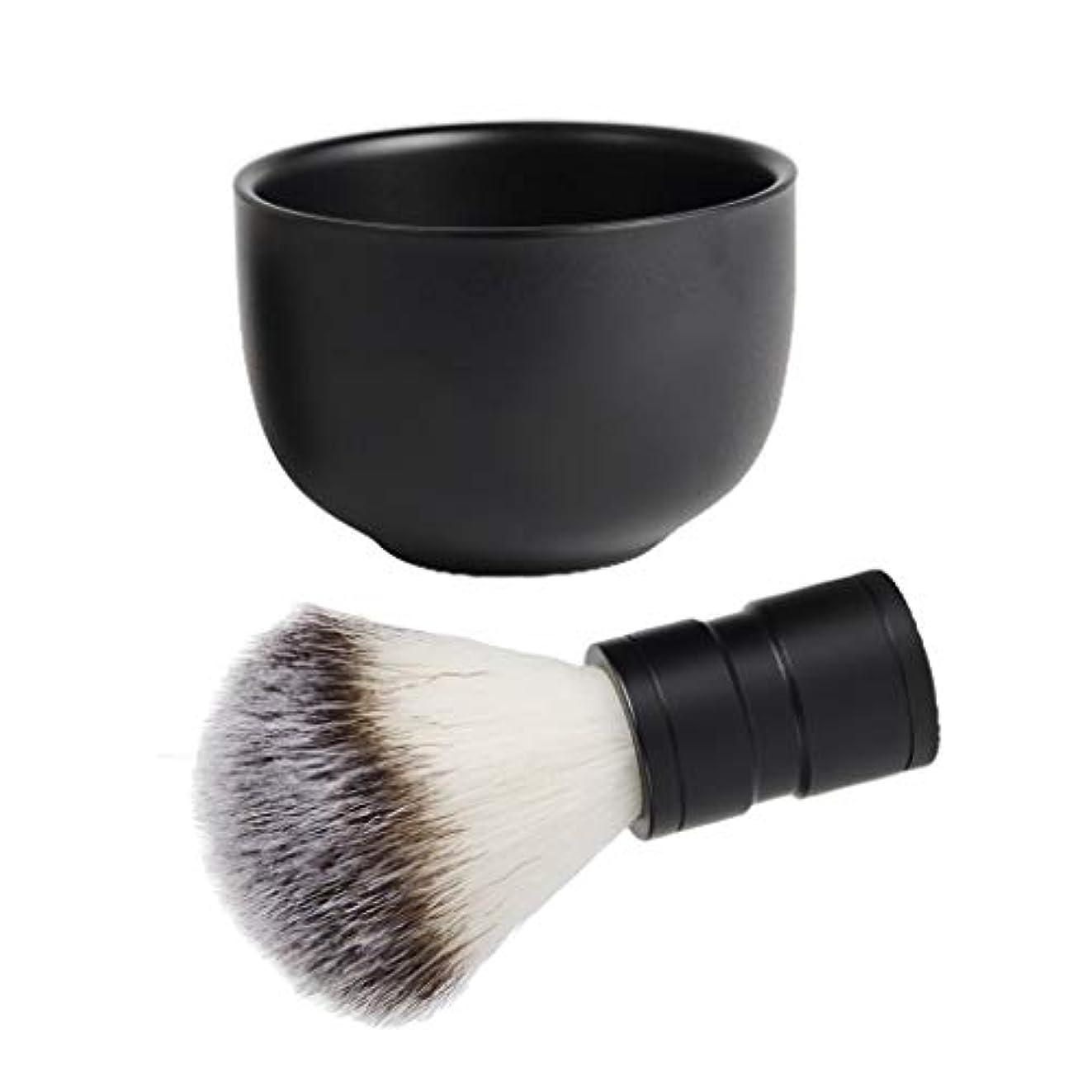 第二ドキドキ相談chiwanji シェービングカップ シェービングブラシ 石鹸ボウル 髭剃り 泡立ち メンズ ひげ剃りキット